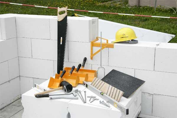 Инструменты для кладки газосиликатных блоков