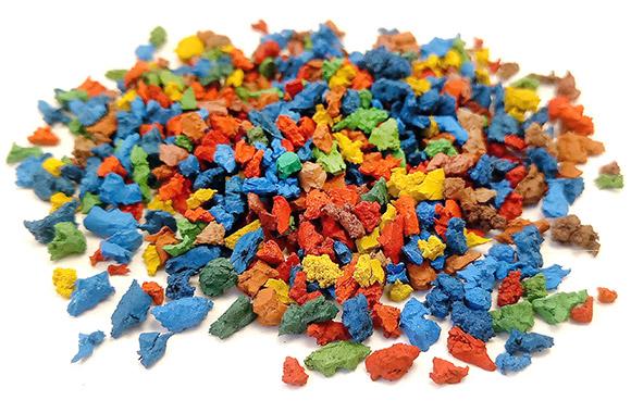 Гранулы цветные резиновые