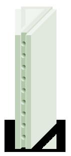Плита гипсовая пазогребневая (пустотелая)